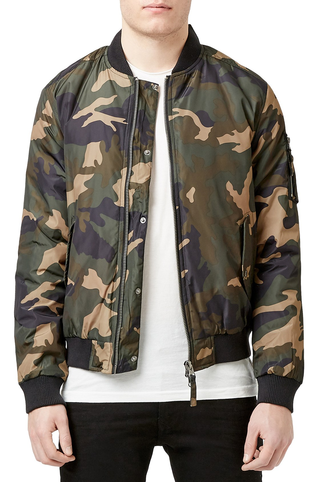 Army-1 How to Wear Bomber Jacket Men-18 Outfits with Bomber Jackets