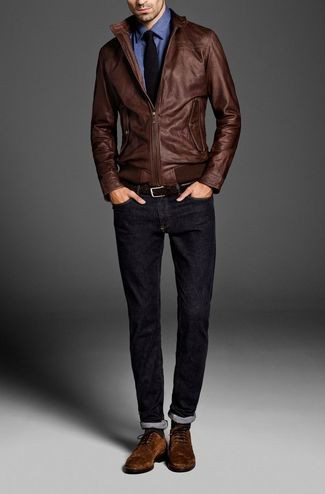 Casual-1 How to Wear Bomber Jacket Men-18 Outfits with Bomber Jackets