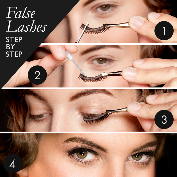 How-to-wear-False-Eye-lashes-Step-by-Step How to Wear Fake Eyelashes for Beginners-Step by Step Tutorial