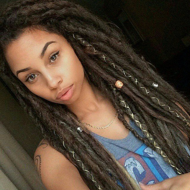 Tied-String Top 20 Dreadlock Hairstyles Trends for Girls These Days