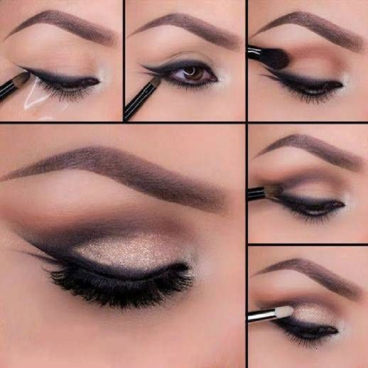 double-winged-smudged-eyeliner How to Wear Eyeliner for Beginners-Tutorial (Pics and Videos)