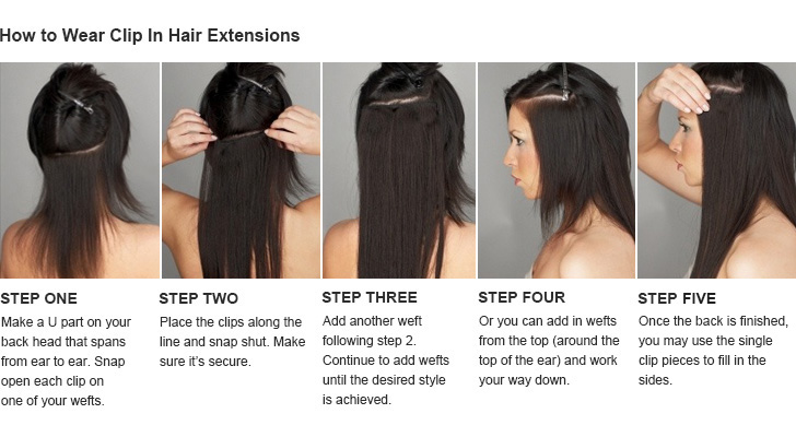 how-to-wear-clip-in How to Wear Extensions-Step by Step Guide for Beginners