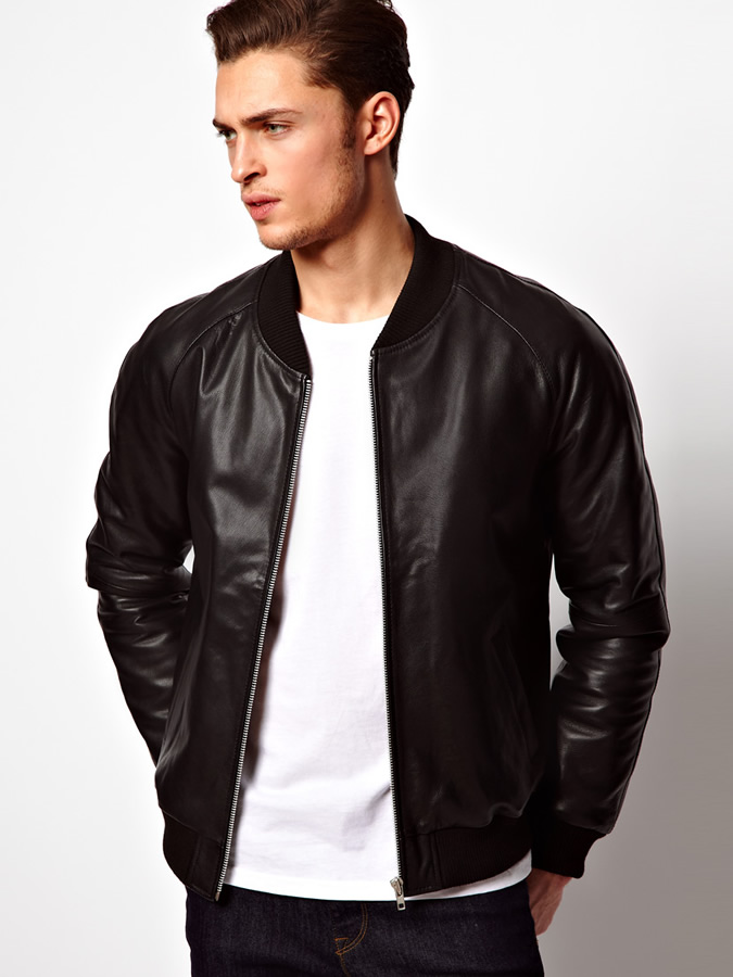 leather How to Wear Bomber Jacket Men-18 Outfits with Bomber Jackets