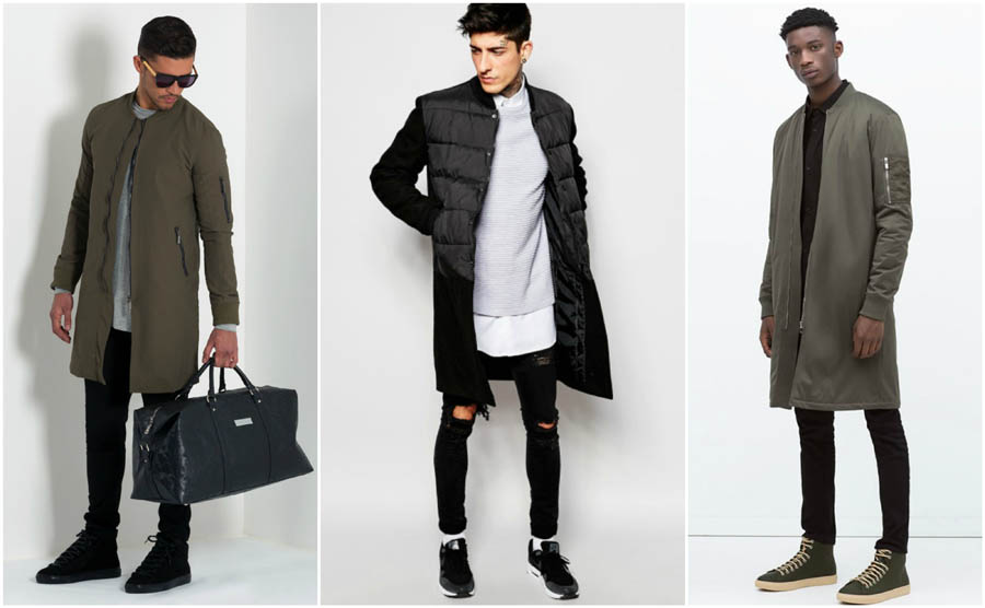 longline-1 How to Wear Bomber Jacket Men-18 Outfits with Bomber Jackets