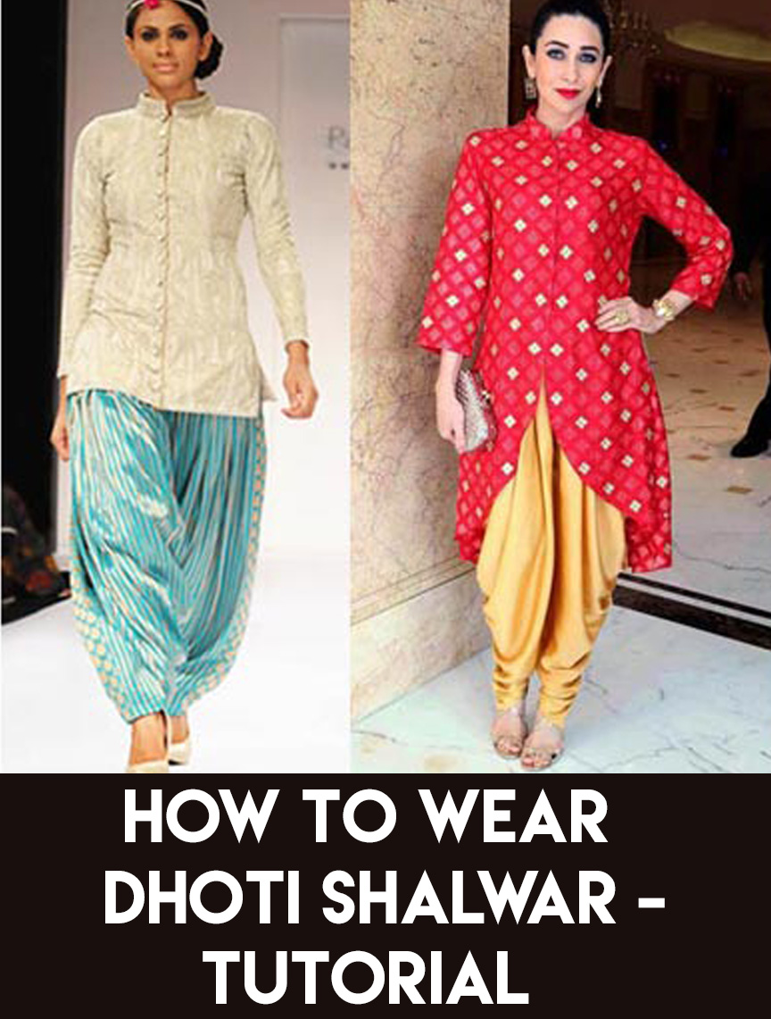polyvore-sample-5 How to Wear Dhoti Shalwar in Different Styles|Step by Step Tutorial