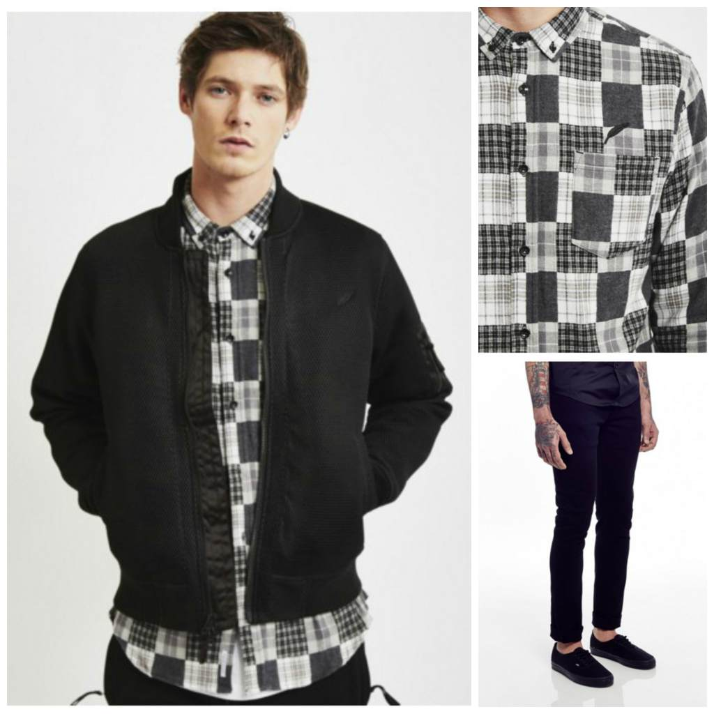 printedshirt-1 How to Wear Bomber Jacket Men-18 Outfits with Bomber Jackets