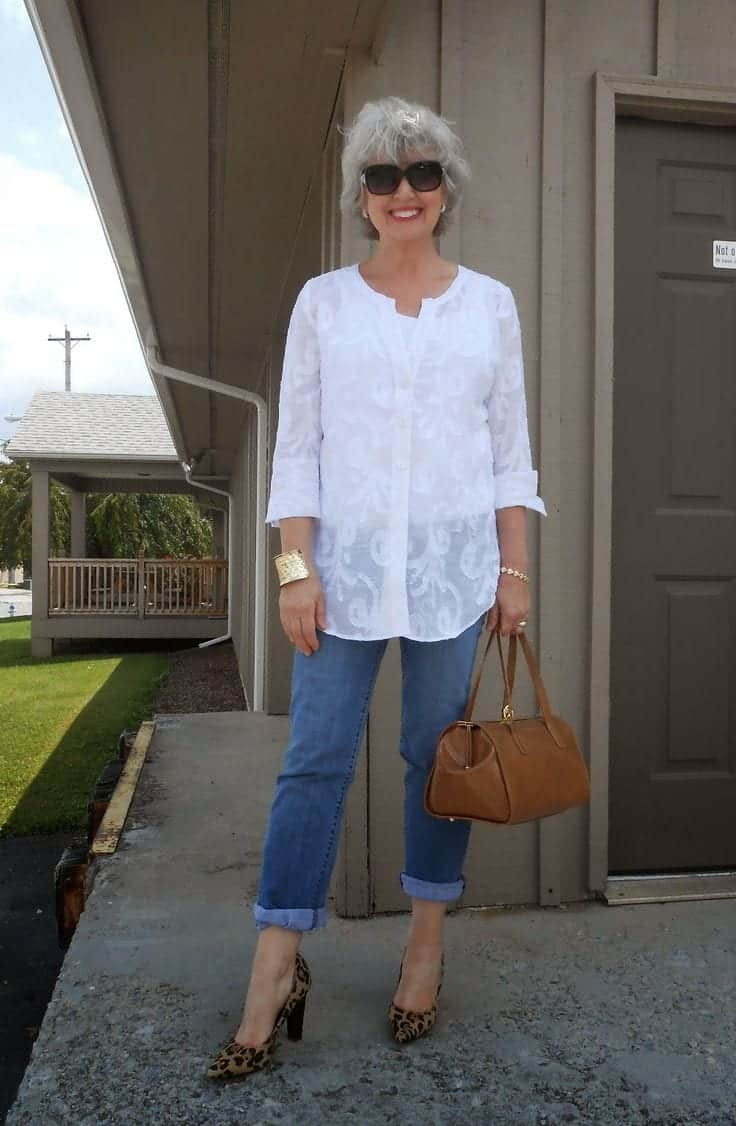 women outfit with white shirt