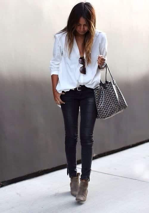 white shirt outfits